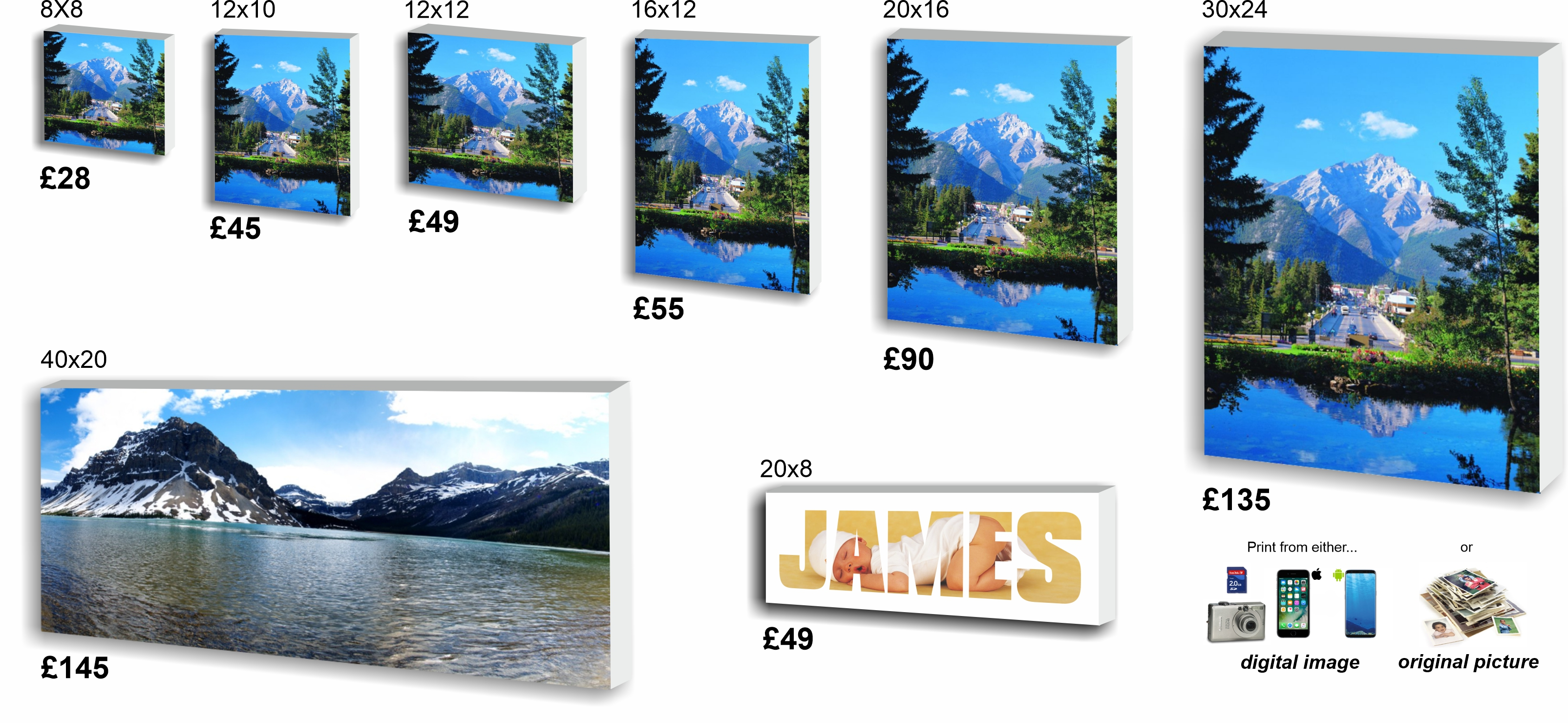 Canvas Prices